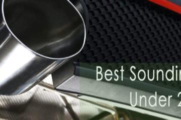 Best Sounding Cars Under 20k