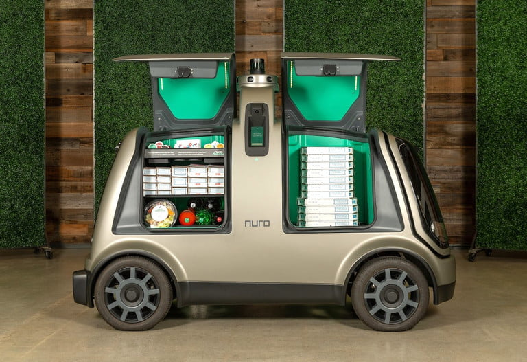Autonomous vehicles can now delivered groceries at your door step in California