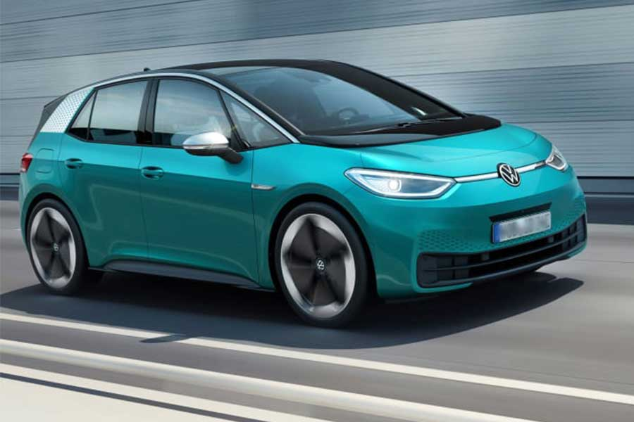 Volkswagen ID.3 Electric Car's First Road Tests Show Up