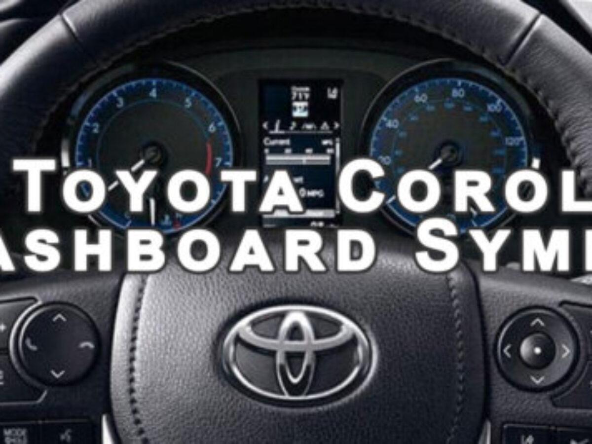 toyota corolla dashboard symbols -  electric car