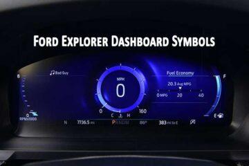 Ford Explorer Dashboard Symbols